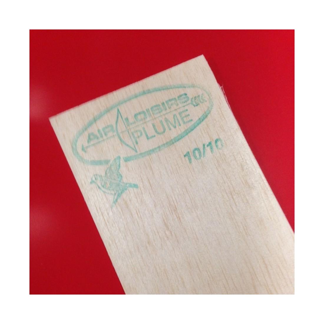 PLANCHE BALSA PLUME 10/10 LONGUEUR 100 X 10 CM