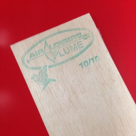 PLANCHE BALSA PLUME 15/10 LONGUEUR 100 X 10 CM